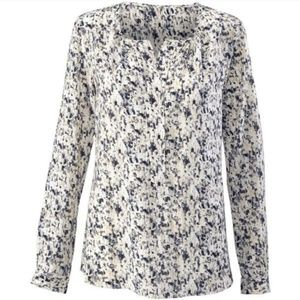 Cabi Shattered Blouse Size Medium Button Down